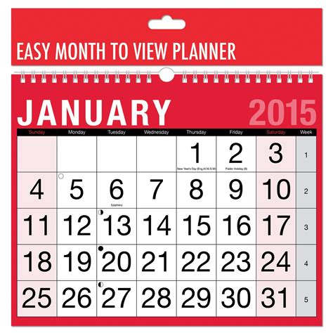 BARGAIN 2015 Calendar View Planner £1 delivered at Amazon