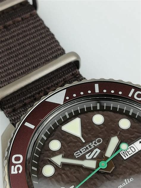 Seiko 5 Sports Stainless Steel Brown Automatic Men's Watch