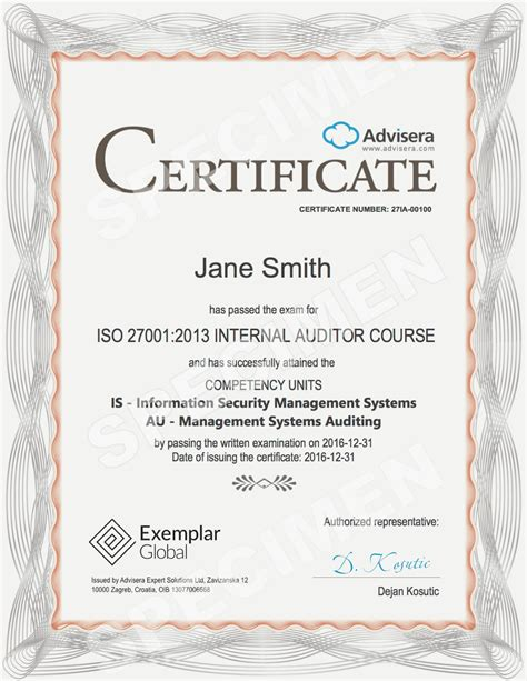 Get ISO 9001/14001/27001/EU GDPR Personal Certification