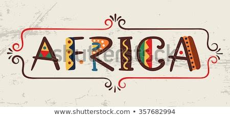 Africaword Ethnic African Style Hand Drawn Stock Vector