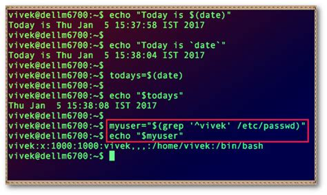 How to assign a grep command value to a variable in Linux