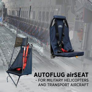 AUTOFLUG airSEAT - FOR HELICOPTERS AND TRANSPORT AIRCRAFT