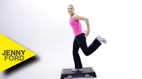 How to do a HAM CURL - STEP AEROBICS - JENNY FORD - YouTube