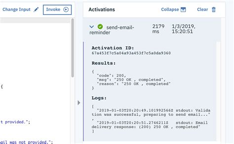Send e-mails from Watson Assistant using IBM Cloud