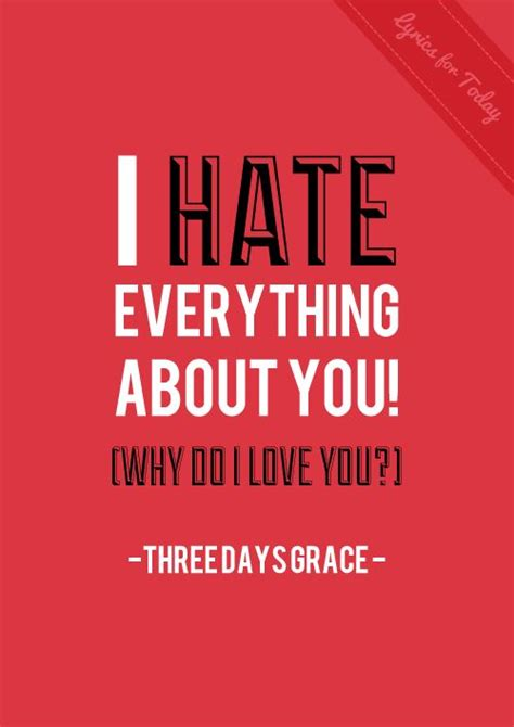 I Hate Everything About You by Three Days Grace | music