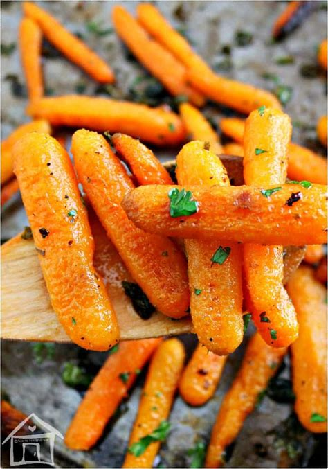 Oven Roasted Ranch Seasoned Baby Carrots- Delicious!