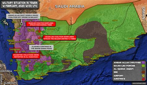Military Situation In Yemen On February 12, 2020 (Map Update)