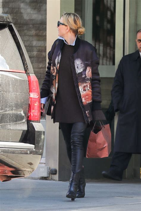 Cate Blanchett Wears Leather Pants Out in New York 03/18