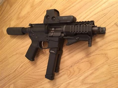 9mm AR PDW build complete (Pics and video) - AR15