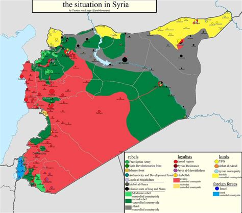 Map of the current situation of the Syrian civil war (31
