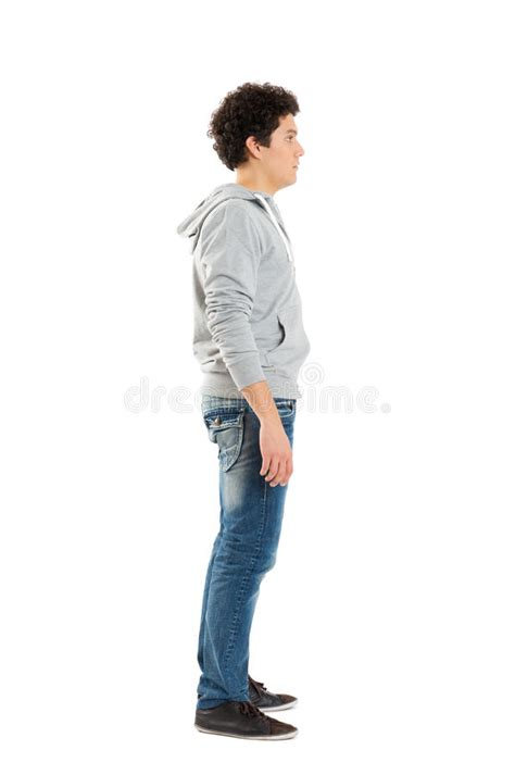 Side View Of A Young Boy stock photo