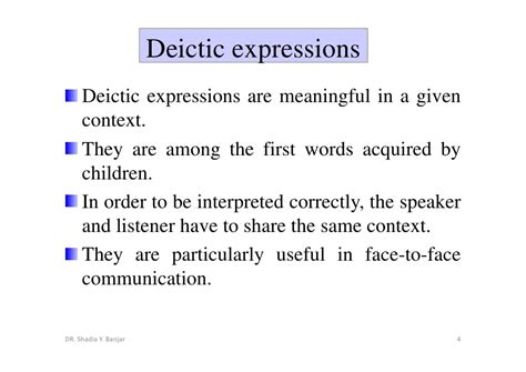 Pragmatics: Deixis And Distance By Dr