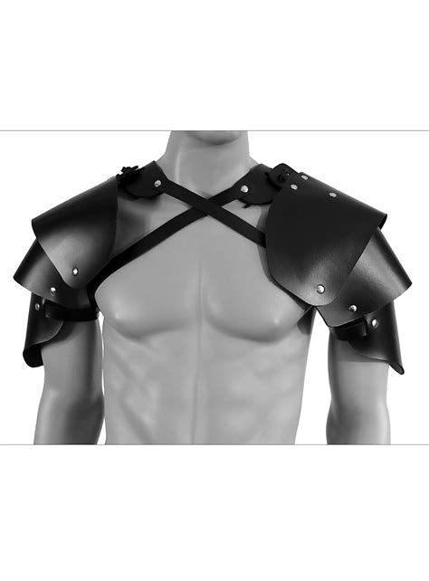 Leather pauldrons - Rogue - andracor