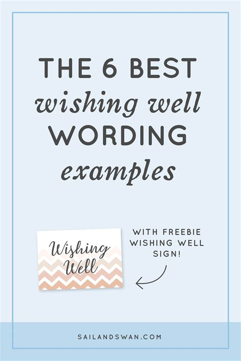The 6 Best Wishing Well Wording Examples - Wishing Well