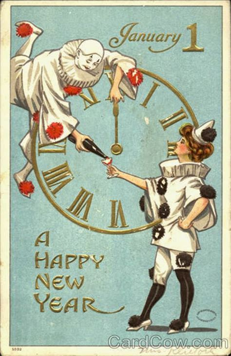 30 Strange and Creepy Vintage New Year's Postcards From