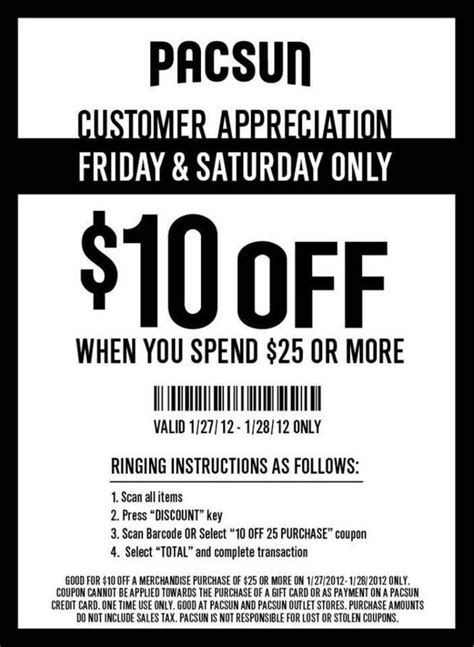 PacSun $10 off $25 Coupon Valid Today & Saturday Only | AL
