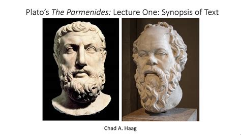 Plato The Parmenides Lecture One Synopsis Of Text 1 - YouTube