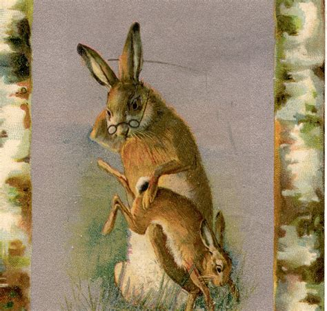 Vintage Bunny Spanking Image - The Graphics Fairy