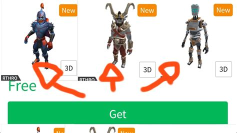 HOW TO GET ALL NEW FREE RTHRO IN ROBLOX - YouTube