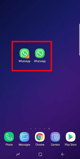 How to use Galaxy S9 dual messenger to run two accounts of