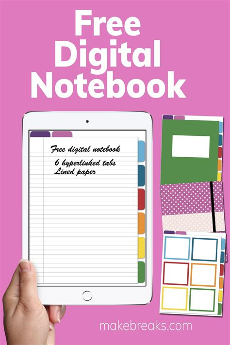 Free Digital Notebook for Goodnotes & Other PDF Readers
