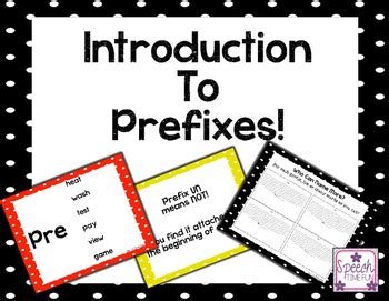 Introduction to Prefixes by Speech Time Fun   Teachers Pay